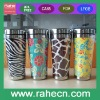 promotional 16oz Double wall travel mug with Paper insert