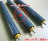 Anti-acid White/Gray plastic/pvc conveyor idlers
