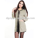 two pockets and belt ladies coat