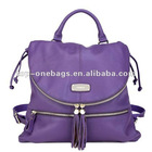 2012 Newest design ladies tassel back bag
