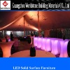 translucent acrylic LED furniture in the bar