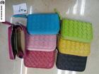 Brand designer colorful leather coins bag, key bag
