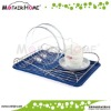 New arrival Stainless steel plate holder with silicone tray