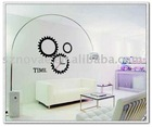 NP7-04(C) Funny Clock Design PVC Wall Stickers