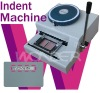 plastic/pvc card indenting machine