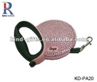 shenzhen price crystal bling retractable dog leash