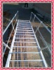 weld steel ball and pipe handrail ladder