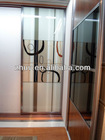 melamine faced board, uv or acrylic panel with sliding or hinged door customized modern wardrobe decorative glass sliding door