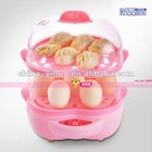Hot sell high quality best egg steamer for seven eggs with two layer/egg pacher for food
