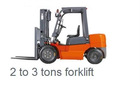 forklift for transportation cargos
