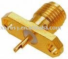 sma 2 hole flange mount jack recept high quality and reasonable price RF CONNECTOR