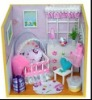 diy 4d toy dollhouse educational assembly toy Baby's Room,beautiful toy house for kids