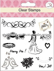wedding make clear stamps