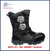 girls black snow boot hight cut oem factory china