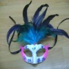 Make your charming the real grizzly feather mask for carnival