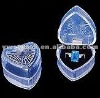 cheap plastic ring box ( heart shape ring box)