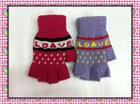 Fashion lady's knitting winter mittens
