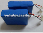 14.8V 2400mah Rechargeable lithium ion battery pack for topcon pc, laptop ,e-tools, heater, RC car, model airplane