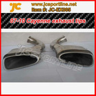 stainless steel car muffler tips for porsche cayenne 2007 exhaust pipe kit