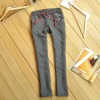 Wholesale cheap fashion design womens fleece straight casual sweatpants pants