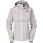 ladies 94% polyester 6% spandex soft shell jacket