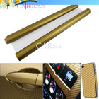"24"" x 60"" Golden Texture Carbon fiber sheet roll for car"