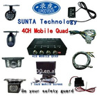 ST503-car security 4ch cctv camera video input quad processor splitter