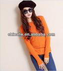 zc10053 Brief Cheap Women Long Sleeve Plain Cotton Spandex Basic T Shirt