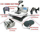 6 in 1 combo hot press printing machine