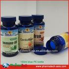 Dietary Supplement & Pharmaceutical PET 150cc Blue plastic container