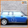 mini car vinyl sticker