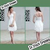SC0010 White Best Chiffon Layers Design Short Bridesmaid Dresses