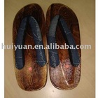 hot sell newest Japanese wood slipper black
