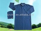 2012 hot-sell 0.32mm PVC/polyester long blue raincoat