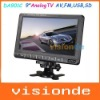 Free Shipping DA-901C 9 inch TFT LCD Portable Color TV Monitor with USB/FM/AV/SD Black Dropshipping+Wholesale