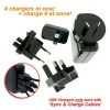4 in1 USB Charger with International Adapters for iPhone 4