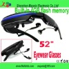 52inch 4GB MP4 Video Glasses, play videos, music, pictures, E-book anytime you want