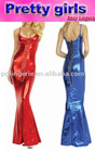 shining sexy evening gown, ladies party wear gown
