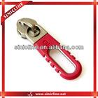 Metal zinic alloy zip puller with plastic