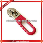 Metal zinic alloy zip puller with plastic