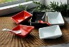 ceramic square dish plates with solid color glaze