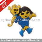 Phthalate free soft pvc rubber label for kid's toys