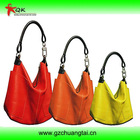 Soft leather coloful handbag bag hot sale lady hanbags tote bag