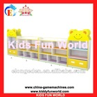 2012 latest wooden children bookshelf Lovely Bear Toy Cabinet