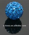 shamballa bead,rhinestone ball bead,light sapphire