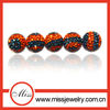 Christmas sale!shinny zabra 10mm shamballa crystal half-drill beads
