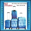 abs trolley case with 8 wheels ( 3 pcs )/hard abs trolley case/abs pc trolley case