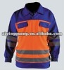 High-vis Coverall, Made of 100% Cotton with EN 471 Class 2 Reflective Tapes