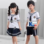kids school sets/boys and girls uniform/school uniform/2012 new design embroider any logo hot kids smart suit