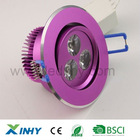 HOT!3w recessed interior downlight for bathroom